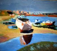 138 - Barque échouée   1993  (VENDU)