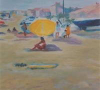 173 - Le Parasol Jaune    2006  (VENDU)