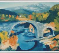 86  - Le Pont Romain à St Jean  1988   (VENDU)